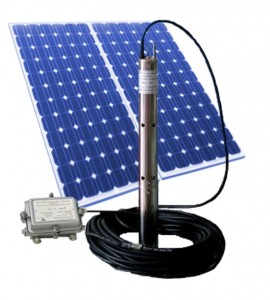 Solar borehole water pumps