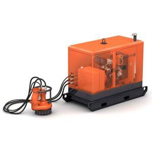 Hydraulic submersible sludge dewatering