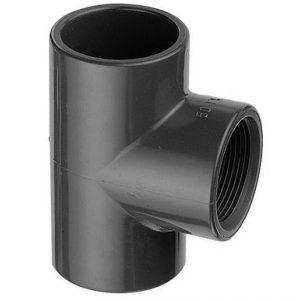 plain threaded female equal tee upvc pipe fitting